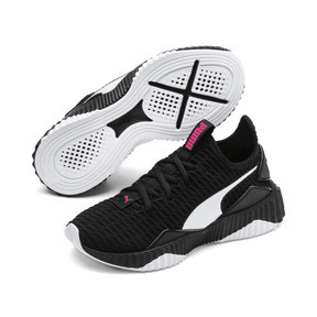 Thumbnail 2 of Defy Mädchen Preschool Sneaker, Puma Black-Puma White, medium