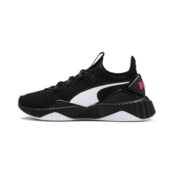 Defy Girls' Trainers, Puma Black-Puma White, large