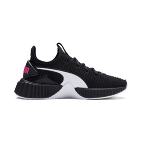 Thumbnail 5 of Defy Mädchen Preschool Sneaker, Puma Black-Puma White, medium