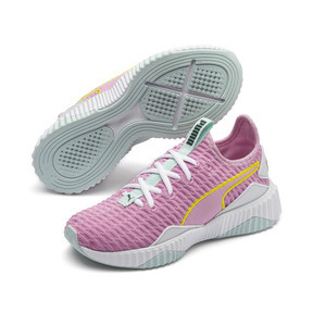 Thumbnail 2 of Defy Girls' Trainers, Pale Pink-White-Fair Aqua, medium