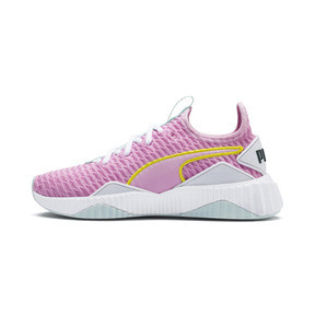 Thumbnail 1 of Defy Girls' Trainers, Pale Pink-White-Fair Aqua, medium