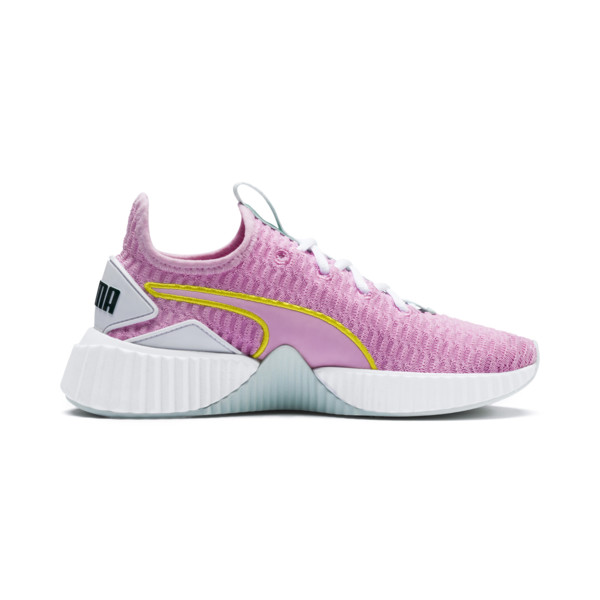 Defy Girls' Trainers, Pale Pink-White-Fair Aqua, large