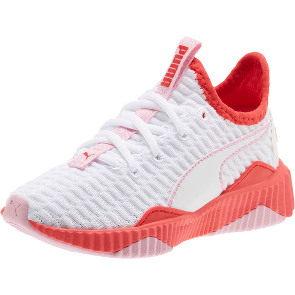 Defy Sneakers PS, White-Hibiscus -Pale Pink, large