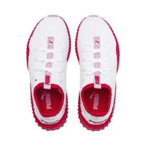 Thumbnail 6 of Defy Girls' Trainers, White-Hibiscus -Pale Pink, medium
