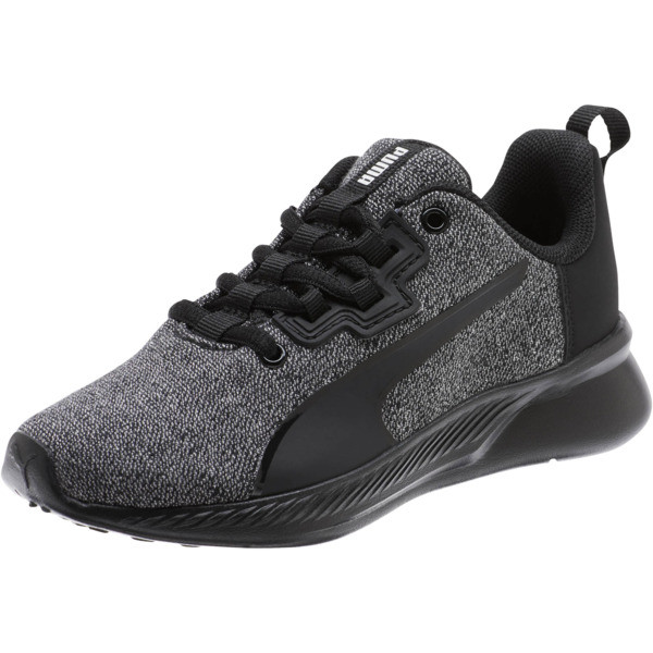 Tishatsu Runner Knit Little Kids' Shoes, Puma Black-Puma White, large