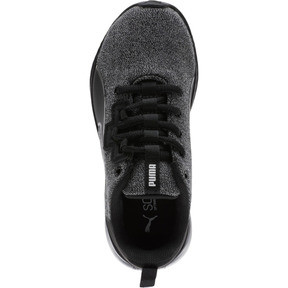 Thumbnail 5 of Tishatsu Runner Knit Little Kids' Shoes, Puma Black-Puma White, medium
