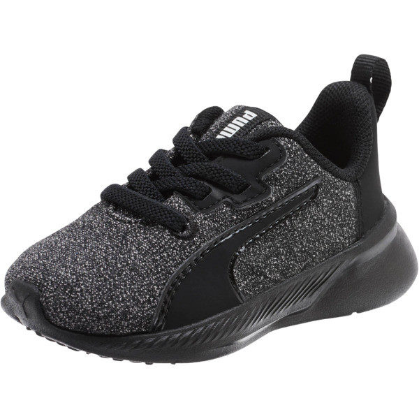 Tishatsu Runner Knit Toddler Shoes, Puma Black-Puma White, large