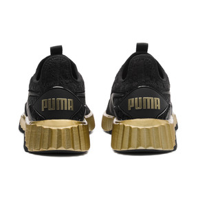 Thumbnail 4 of Defy Sparkle Wn's, Puma Black-Puma Team Gold, medium