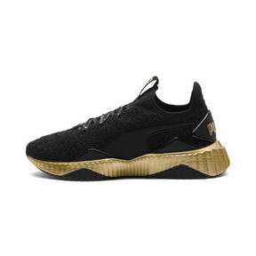 Thumbnail 1 of Defy Sparkle Wn's, Puma Black-Puma Team Gold, medium