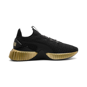 Thumbnail 5 of Defy Sparkle Wn's, Puma Black-Puma Team Gold, medium