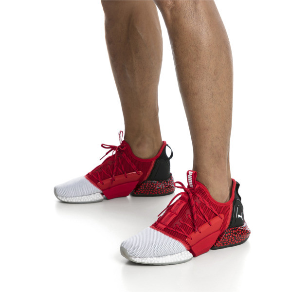 HYBRID Rocket Runner Men's Running Shoes, High Risk Red-Black-White, large