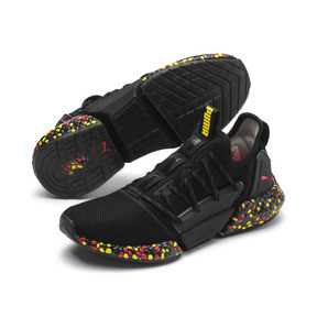 Thumbnail 3 of Chaussure de course Hybrid Rocket Runner pour homme, Black-Blazing Yellow-Red, medium