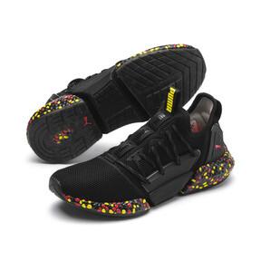 Thumbnail 3 of HYBRID Rocket Runner Men's Running Shoes, Black-Blazing Yellow-Red, medium