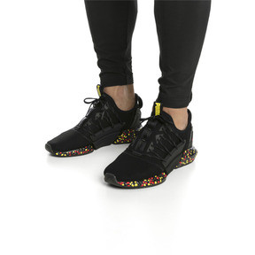 Thumbnail 2 of HYBRID Rocket Runner Men's Running Shoes, Black-Blazing Yellow-Red, medium