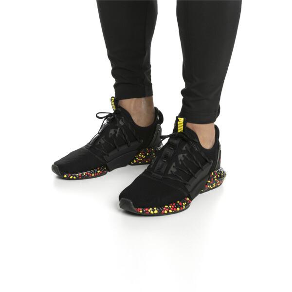 HYBRID Rocket Runner Men's Running Shoes, Black-Blazing Yellow-Red, large
