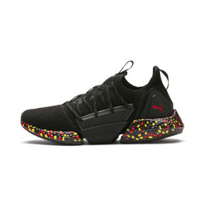 Thumbnail 1 of Chaussure de course Hybrid Rocket Runner pour homme, Black-Blazing Yellow-Red, medium