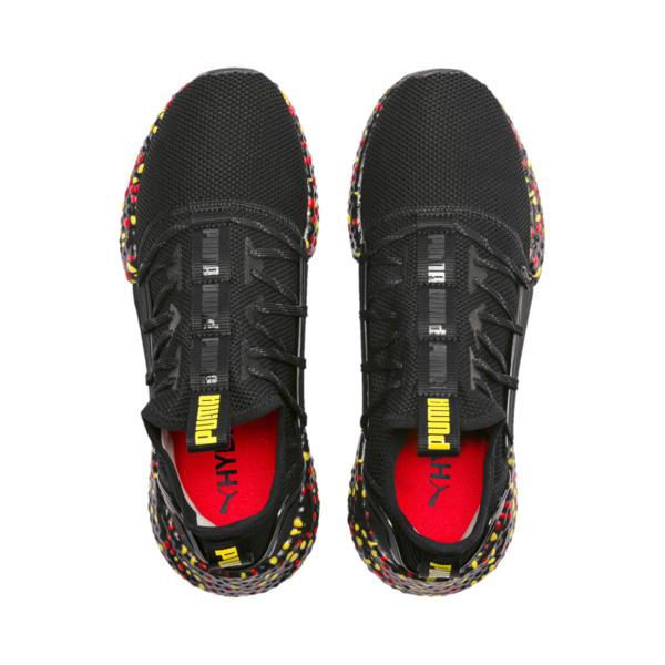Zapatillas de running de hombre Hybrid Rocket Runner, Black-Blazing Yellow-Red, grande