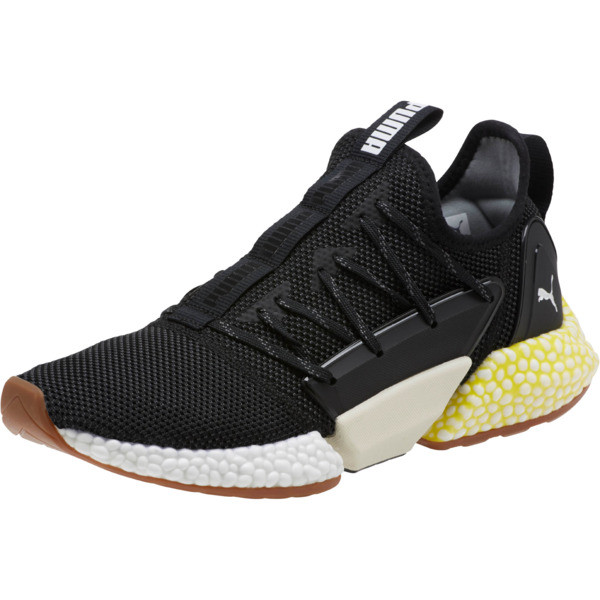 HYBRID Rocket Runner Men's Running Shoes, P Blk-P Wht-Blazing Ylw, large
