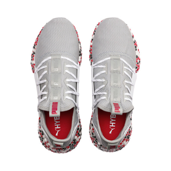 Zapatos para correr HYBRID Rocket Runner para hombre, Quarry-High Risk Red-Black, grande