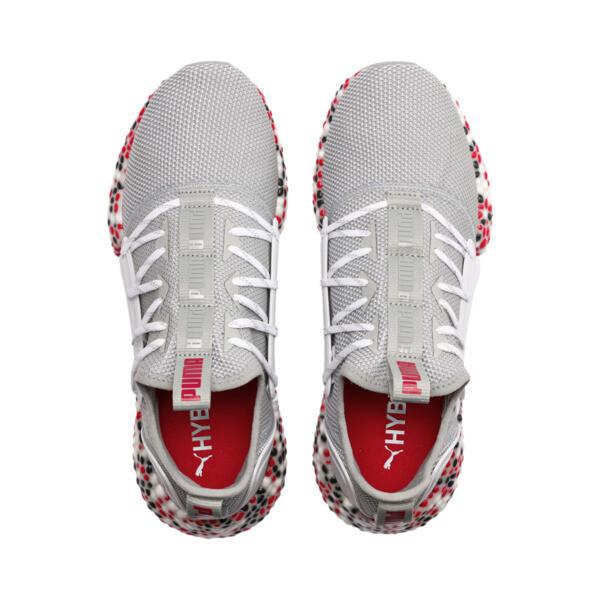 HYBRID Rocket Runner Men's Running Shoes, Quarry-High Risk Red-Black, large