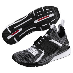 Thumbnail 2 of Ignite Limitless 2 evoKNIT Block Trainers, Puma Black-Puma White, medium