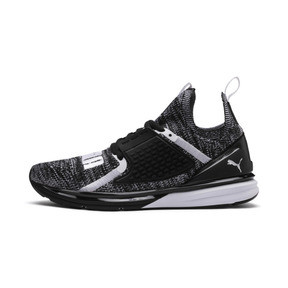 Thumbnail 1 of Ignite Limitless 2 evoKNIT Block Trainers, Puma Black-Puma White, medium
