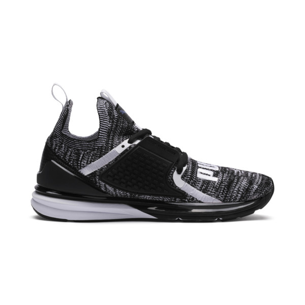 Ignite Limitless 2 evoKNIT Block Trainers, Puma Black-Puma White, large