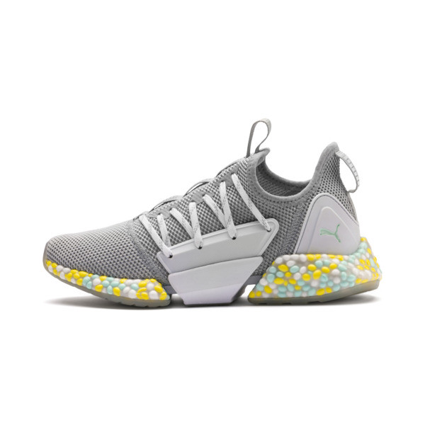 HYBRID Rocket Runner Women's Running Shoes, Quarry-Puma White-Fair Aqua, large