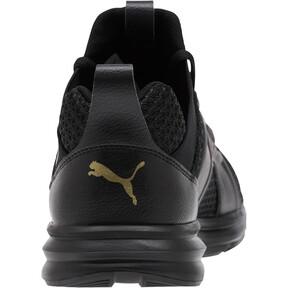 Thumbnail 4 of Enzo Varsity Women's Sneakers, Puma Black-Puma Team Gold, medium