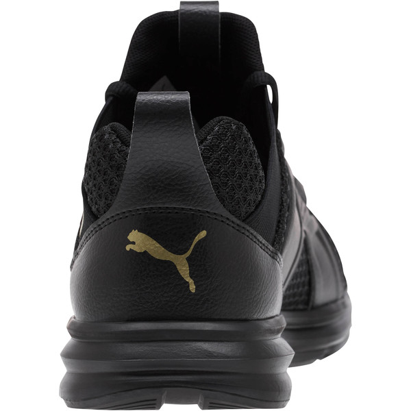Enzo Varsity Women's Sneakers, Puma Black-Puma Team Gold, large