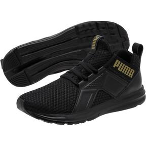 Thumbnail 2 of Enzo Varsity Women's Sneakers, Puma Black-Puma Team Gold, medium