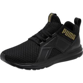 Thumbnail 1 of Enzo Varsity Women's Sneakers, Puma Black-Puma Team Gold, medium