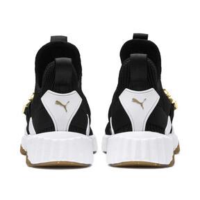 Thumbnail 4 of Defy Varsity Mid Damen Sneaker, Puma Black-Metallic Gold, medium