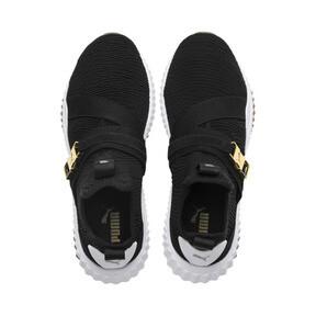 Thumbnail 6 of Defy Varsity Mid Damen Sneaker, Puma Black-Metallic Gold, medium