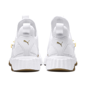 Thumbnail 4 of Defy Varsity Mid Women's Trainers, Puma White-Metallic Gold, medium