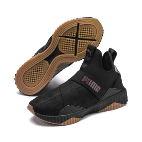 Thumbnail 2 of Defy Mid Luxe Women's Trainers, Puma Black-Fig, medium
