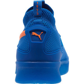 Thumbnail 4 of Clyde Court Core Basketball Shoes, Strong Blue-Shocking Orange, medium