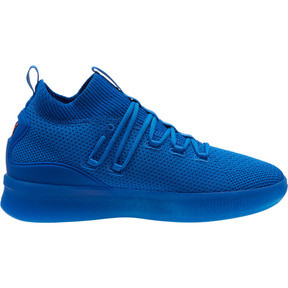 Thumbnail 3 of Clyde Court Core Basketball Shoes, Strong Blue-Shocking Orange, medium