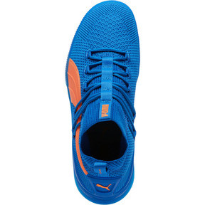 Thumbnail 5 of Clyde Court Core Basketball Shoes, Strong Blue-Shocking Orange, medium