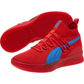 Thumbnail 2 of Clyde Court City Pack Basketball Shoes, High Risk Red-Strong Blue, medium