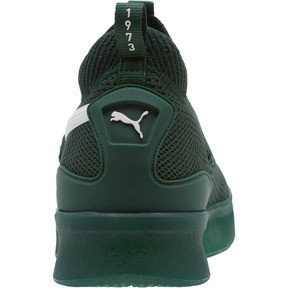 Thumbnail 4 of Clyde Court Core Basketball Shoes, Dark Green-Puma White, medium
