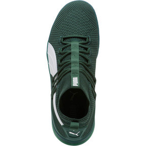 Thumbnail 5 of Clyde Court Core Basketball Shoes, Dark Green-Puma White, medium