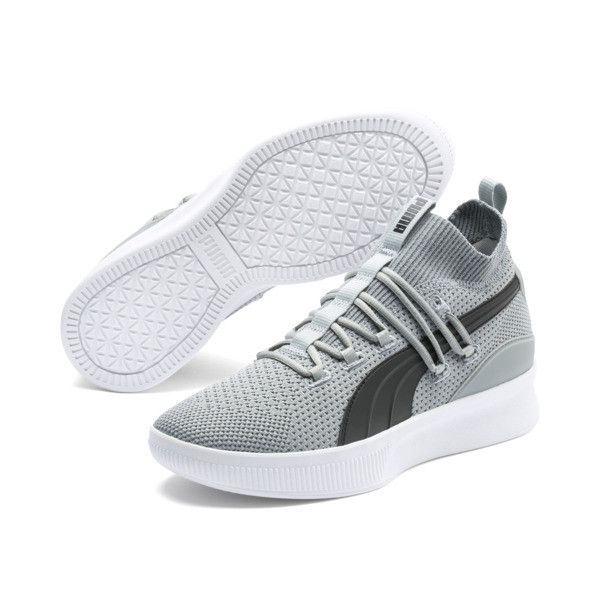 Clyde Court Basketball Shoes, Quarry-Puma Black, large