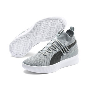 Thumbnail 2 of Clyde Court Core Basketball Shoes, Quarry-Puma Black, medium