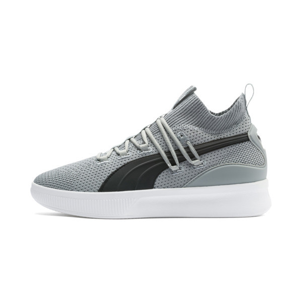 Clyde Court Core Basketball Shoes, Quarry-Puma Black, large