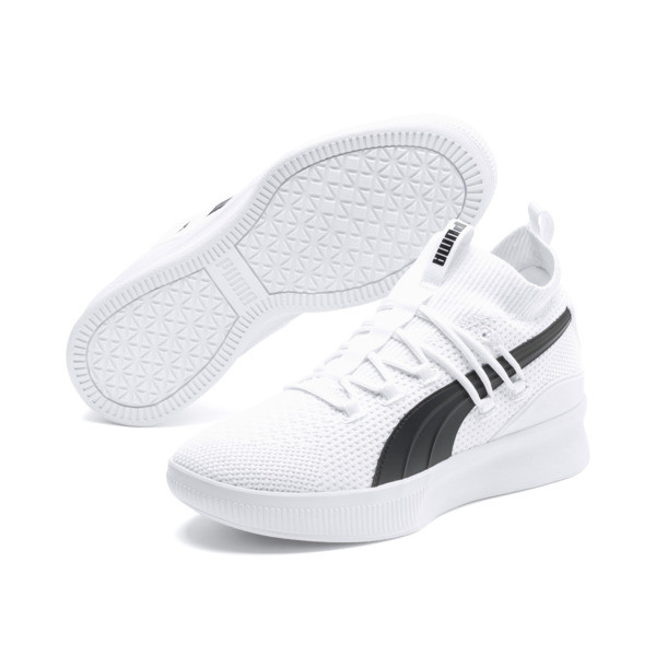 Clyde Court Basketball Shoes, Puma White, large