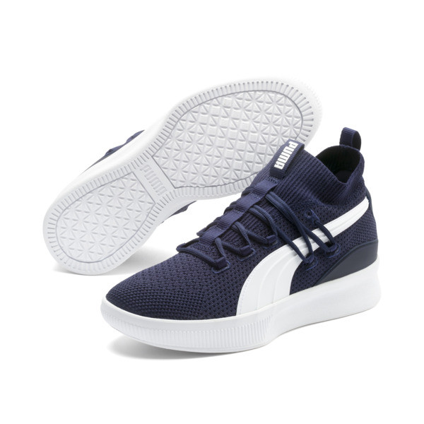 Clyde Court Basketball Shoes, Peacoat, large