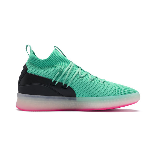 Clyde Court Basketball Shoes, Biscay Green, large