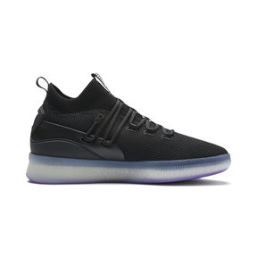 Thumbnail 5 of Clyde Court Disrupt Men's Basketball Shoes, Puma Black-ELECTRIC PURPLE, medium