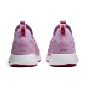 Thumbnail 4 of NRGY Neko Knitted Youth Trainers, Pale Pink-White-Hibiscus, medium